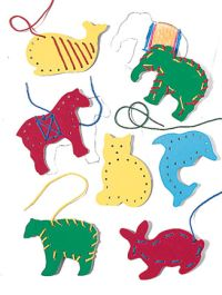 Lacing cards animals