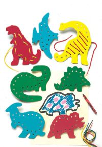 lacing cards dinosaurs