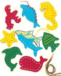 lacing cards sea life