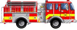 Firetruck Floor Puzzle