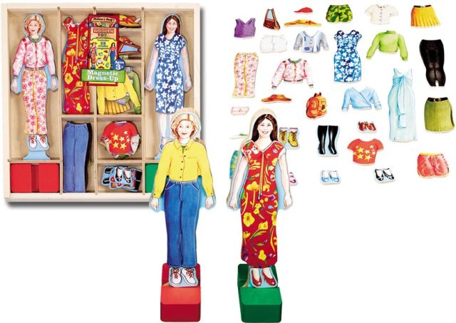 Dress Up Dolls wooden and magnetic free shipping