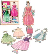 princess wooden dressup dolls