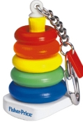Fisher price rock a stack rings keychain
