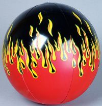 flame beach ball