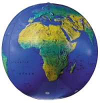 Dark Blue Topographical World Globe