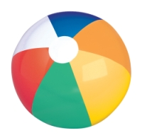 multi-colored panel beach balls