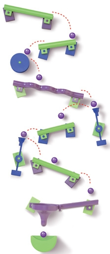 Marble Toys For Boys : Frigits refrigerator magnetic marble run from