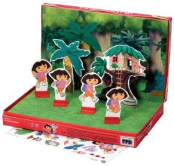 3-d Dora Colorforms Set