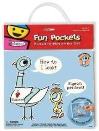 the pigeon Colorforms fun pocket